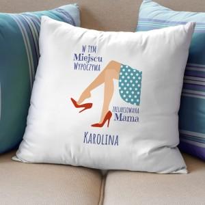 poduszka imienna na prezent dla młodej mamy