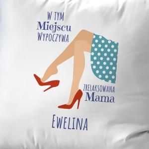 prezent dla mamy na urodziny poduszka z dedykacją