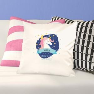 poduszka z nadrukiem imienia na prezent dla dziewczynki