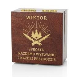 drewniana szkatułka z grawerem na prezent dla męża
