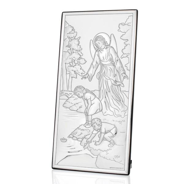 obrazek anioła stróża z grawerem na prezent na chrzest