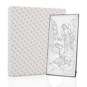obrazek na chrzest z grawerem anioł stróż