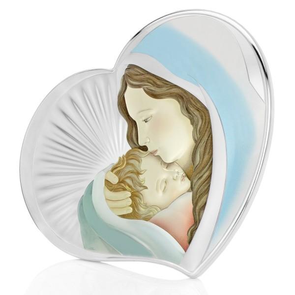 obraz maski boskiej z dzieciątkiem i dedykacją na prezent na chrzest