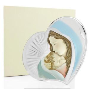 obraz matki boskiej srebrny z grawerem na chrzest