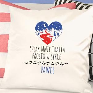 poduszka na prezent dla podróżnika