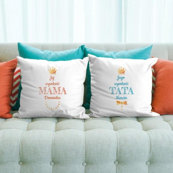 poduszki dekoracyjne z nadrukiem na prezent dla rodziców