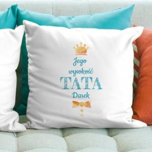 spersonalizowana poduszka z dedykacją na prezent dla taty