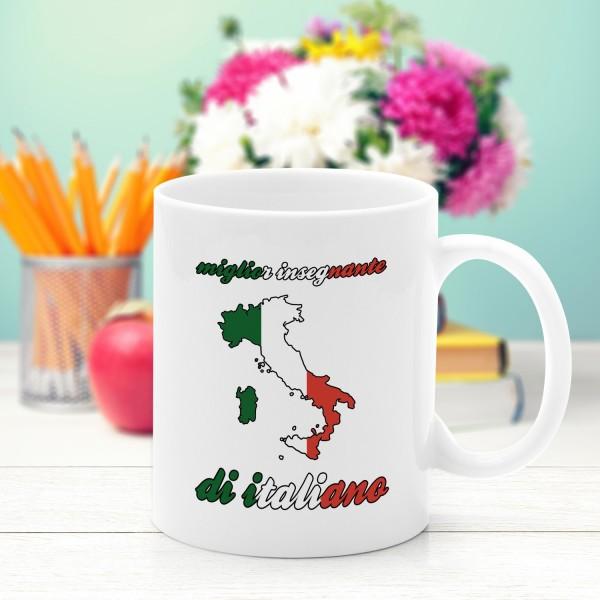 kubek z nadrukiem na prezent dla nauczycielki włoskiego