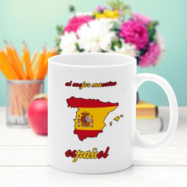 spersonalizowany kubek ceramiczny na prezent dla nauczyciela hiszpańskiego