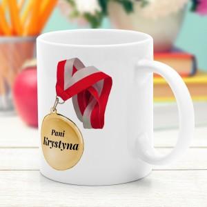 kubek ceramiczny z imieniem na prezent dla nauczycielki