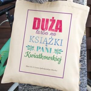 bawełniana torba na prezent dla nauczycielki