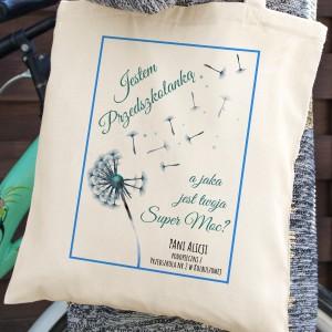torba z nadrukiem na prezent dla przedszkolanki
