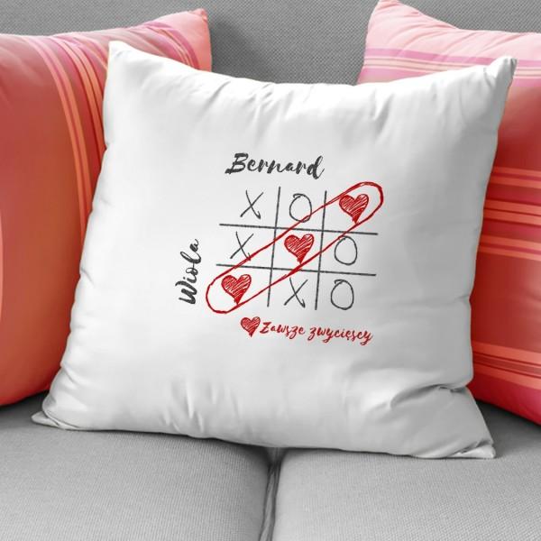 poduszki dla zakochanych z nadrukiem