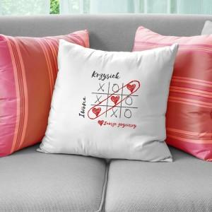 prezent dla pary poduszka z imionami