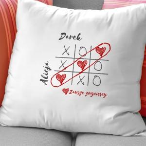 poduszka dla dwojga z nadrukiem na prezent