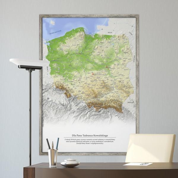 mapa polski w ramie