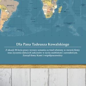 mapa świata z dedykacją