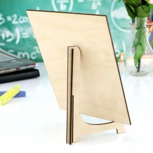 drewniana tabliczka z nadrukiem