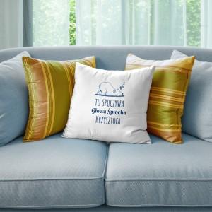 poduszka na prezent z nadrukiem dedykacji