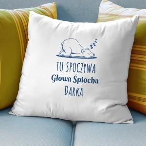 prezent dla śpiocha poduszka z dedykacją