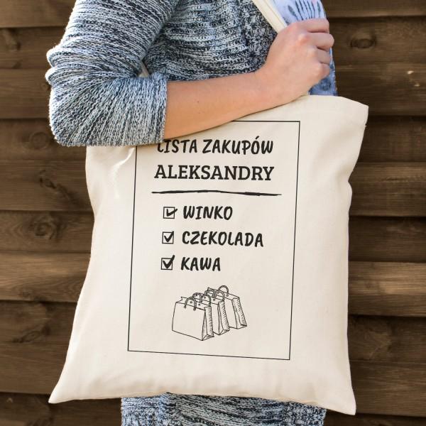 torba bawełniana z nadrukiem