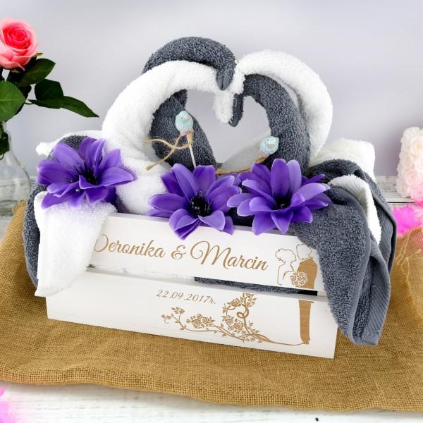 ręczniki w kształcie łabędzi