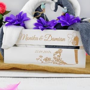 ręczniki łabędzie na prezent z okazji ślubu