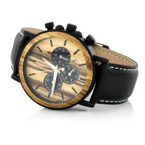 drewniany zegarek na prezent dla męża