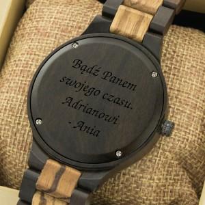 zegarek z grawerem Black Matte