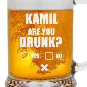 kufel do piwa z grawerem are you drunk?