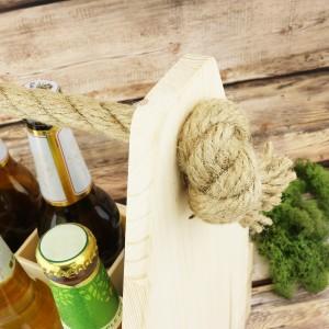skrzynka drewniana na 6 piw dla mężczyzny
