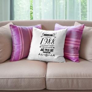 poduszka z napisem urodzona na prezent dla dziewczyny