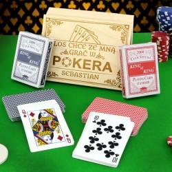 karty do pokera na prezent
