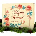 pudełko z nadrukiem na prezent kolorowe kwiaty