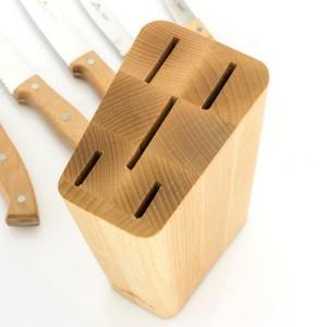 blok na noże z grawerem pyszna kuchnia