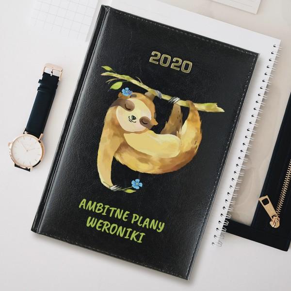 kalendarz imienny leniwiec na prezent