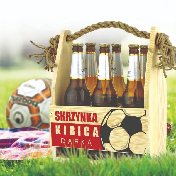 urodzinowa skrzynka kibica na piwo z imieniem