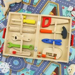 drewniane narzędzia mały majsterkowicz