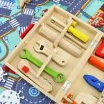 zestaw mały majsterkowicz dla dzieci drewniany