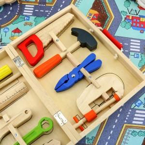 drewniany zestaw małego majsterkowicza dla dzieci
