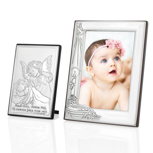 ramka na zdjęcie i obrazek anioł stróż na pamiątkę chrztu świętego