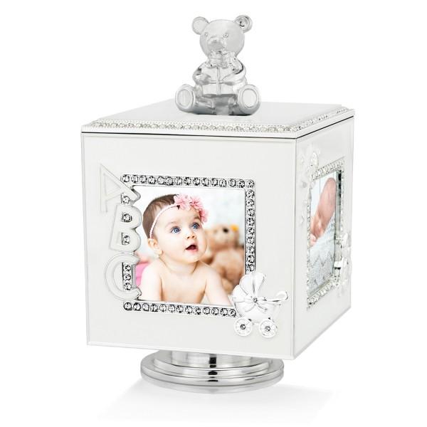pozytywka pudełko white teddy bear na prezent na chrzest