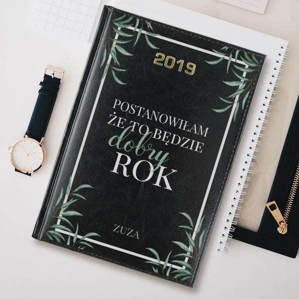kalendarz książkowy 2019 z nadrukiem dobry rok