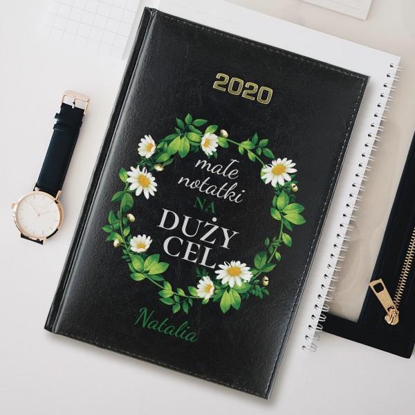kalendarz książkowy z własnym nadrukiem duży cel