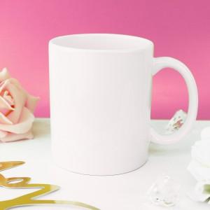 biały kubek klasyczny na prezent