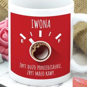 kubek z własnym nadrukiem zbyt mało kawy