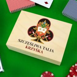 pudełko na karty z personalizacją szczęśliwa talia