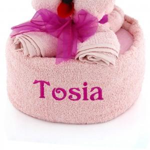 komplet ręczników z imieniem piesek lola na prezent dla dziewczynki