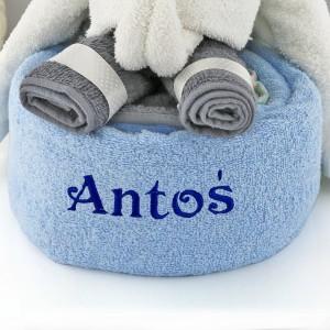 haftowany ręcznik na prezent słonik trąbuś