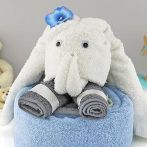 prezent dla chłopczyka zestaw ręczników słonik trąbuś